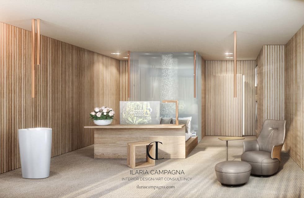 Wood Hotel : Hotel in stile  di Ilaria Campagna | Interior Design