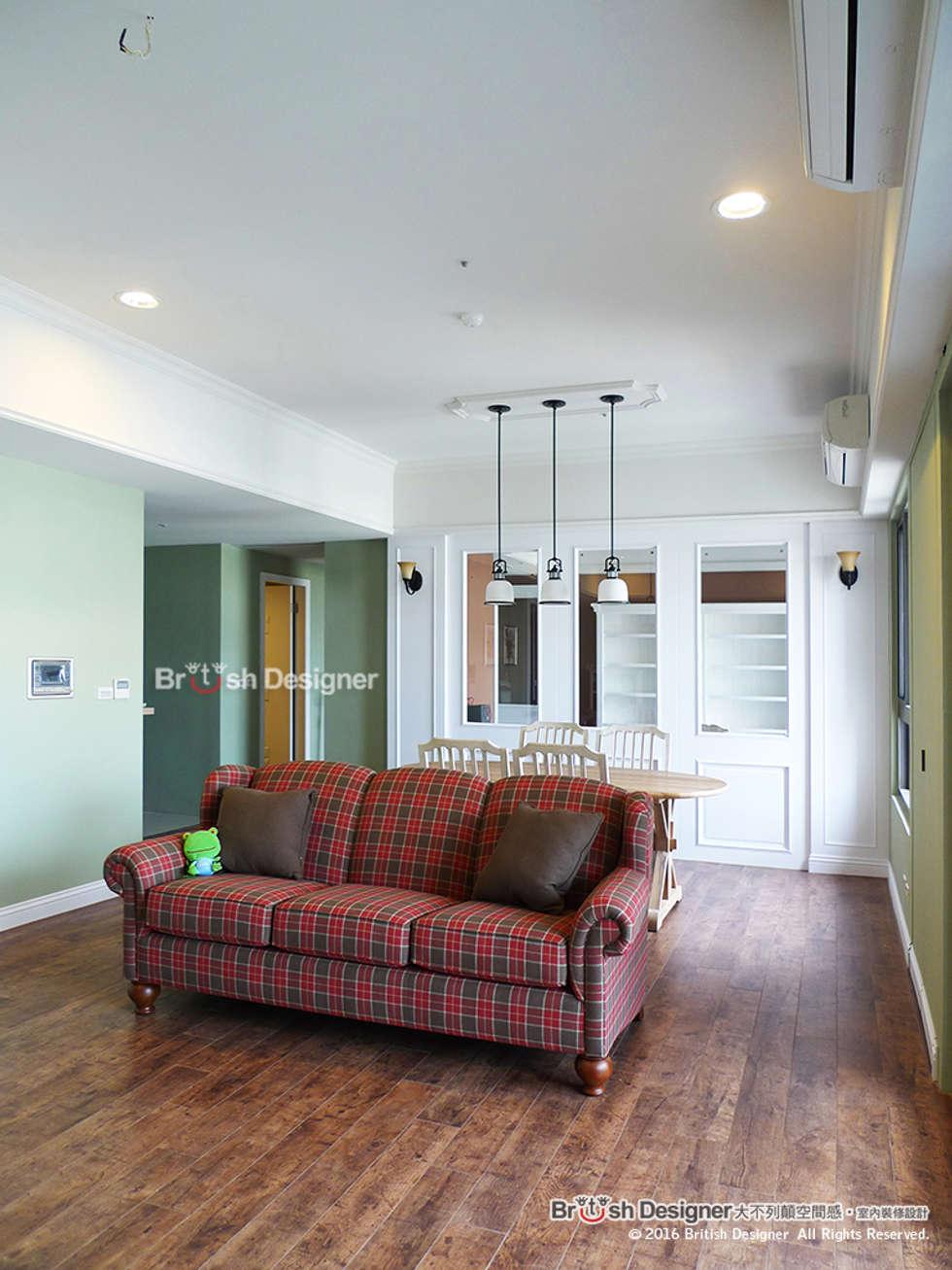 客廳:  客廳 by 大不列顛空間感室內裝修設計