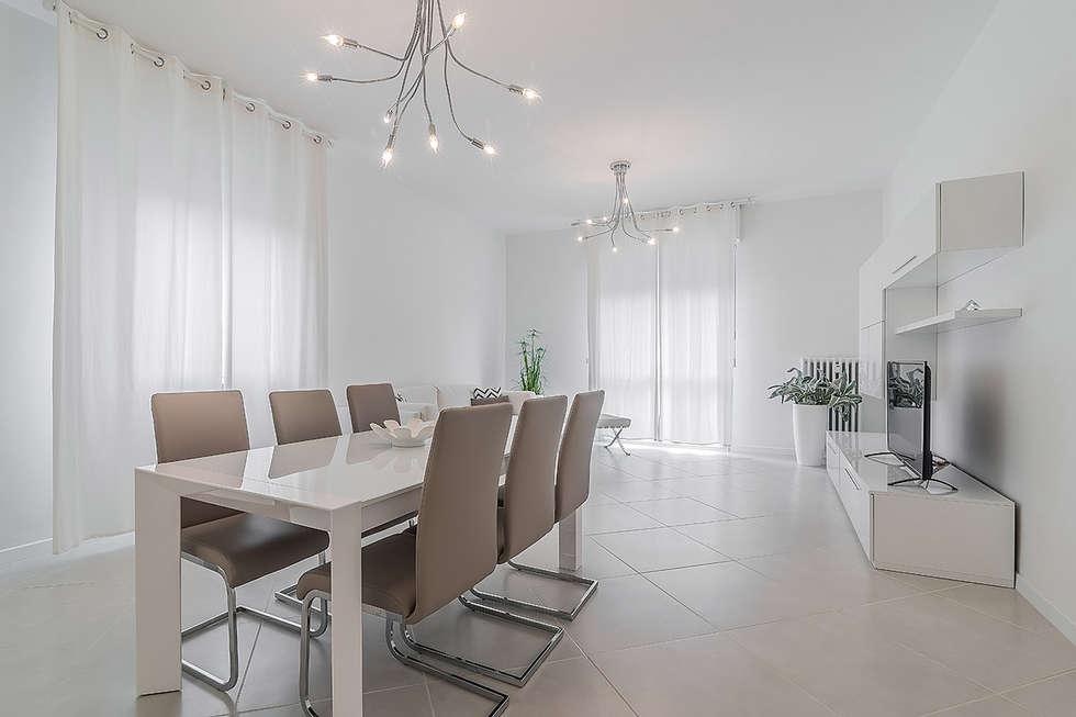 Soggiorno open space sala da pranzo in stile in stile for Soggiorno minimalista