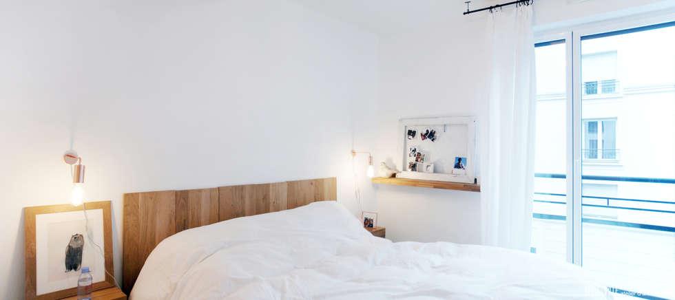 Projekty,  Sypialnia zaprojektowane przez Belle Ville Atelier d'Architecture