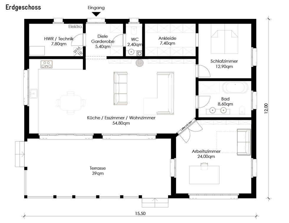 Wohnideen interior design einrichtungsideen bilder for Bungalow falkensee