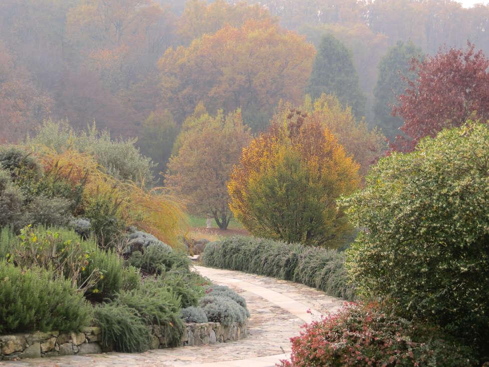 ROMANTICO IN AUTUNNO: Giardino in stile In stile Country di MASSIMO SEMOLA PROGETTAZIONE GIARDINI MILANO