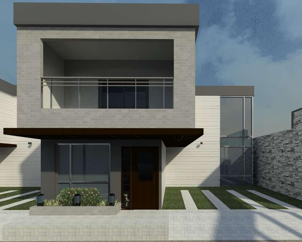 Vista de frente de la casa: Casas de estilo minimalista por Diseño Store