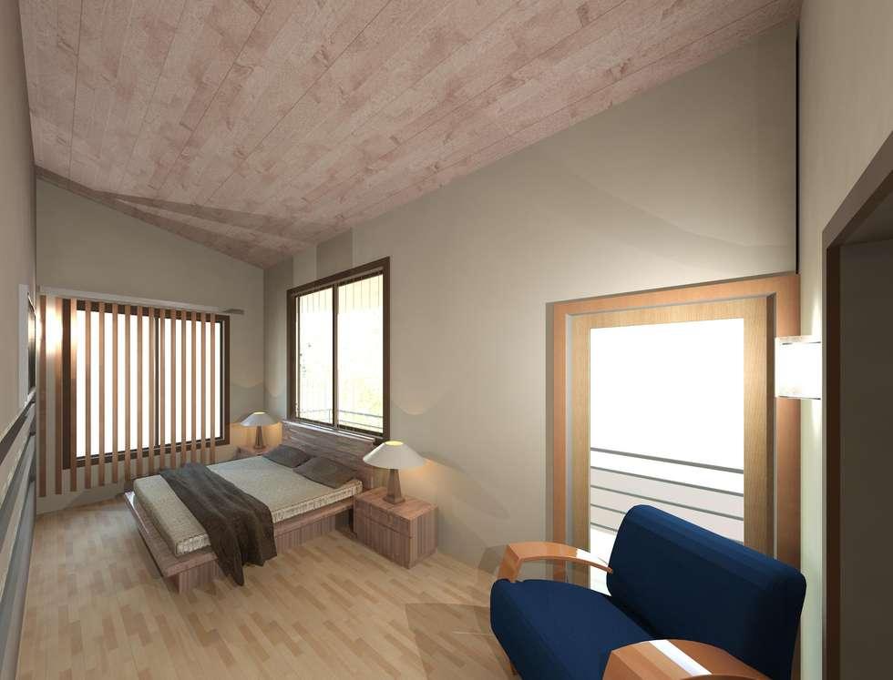 Dormitorio principal: Cuartos de estilo moderno por Diseño Store