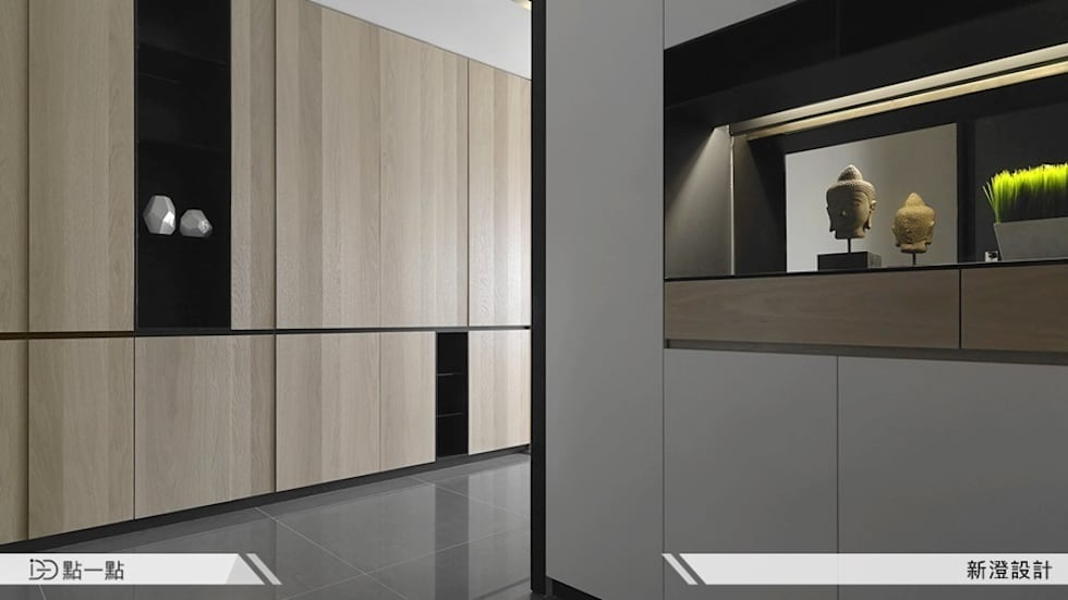 新澄室內設計:  客廳 by iDiD點一點設計