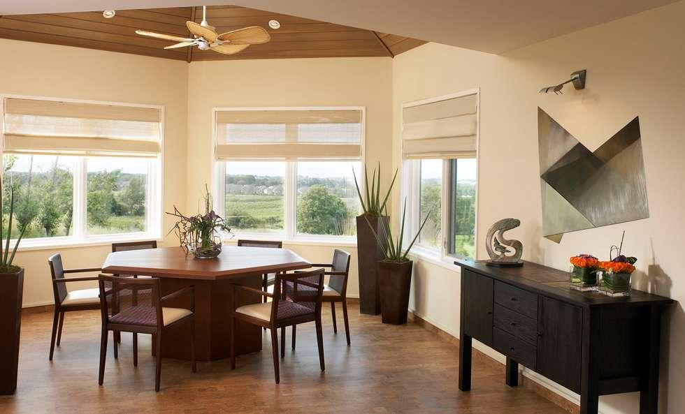 Benchscape: modern Dining room by Lex Parker Design Consultants Ltd.