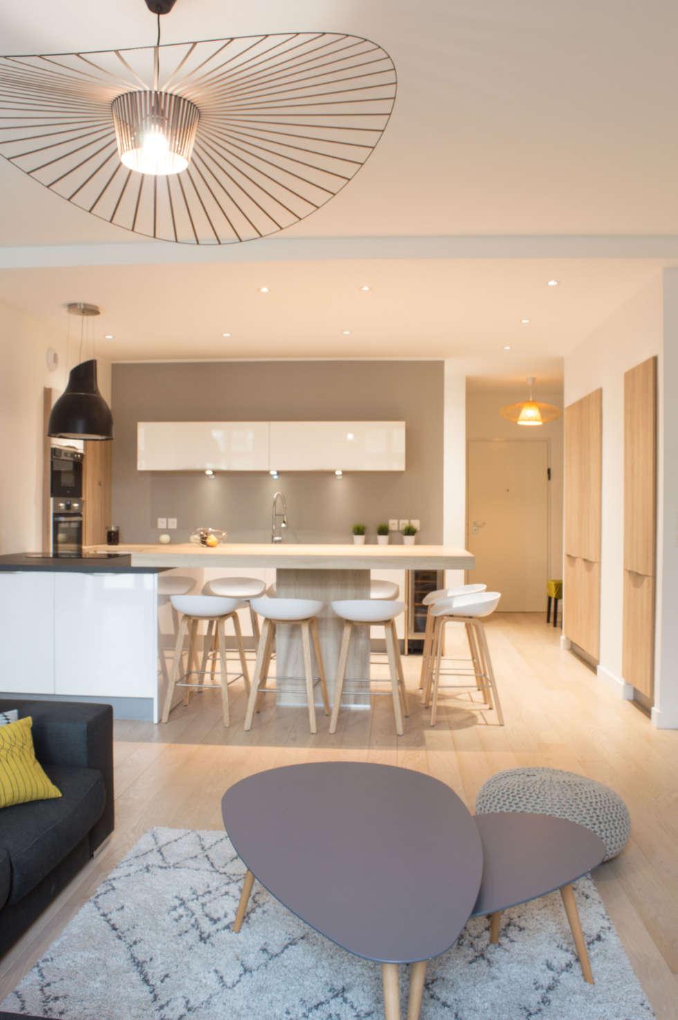 Parquet cuisine ouverte with parquet cuisine ouverte for Salon uv lyon