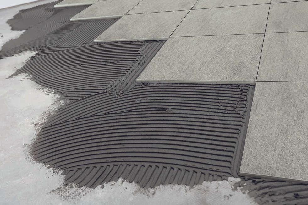 Gres effetto tecnico basaltina grey - TH 2007: Giardino in stile in stile Moderno di ItalianGres