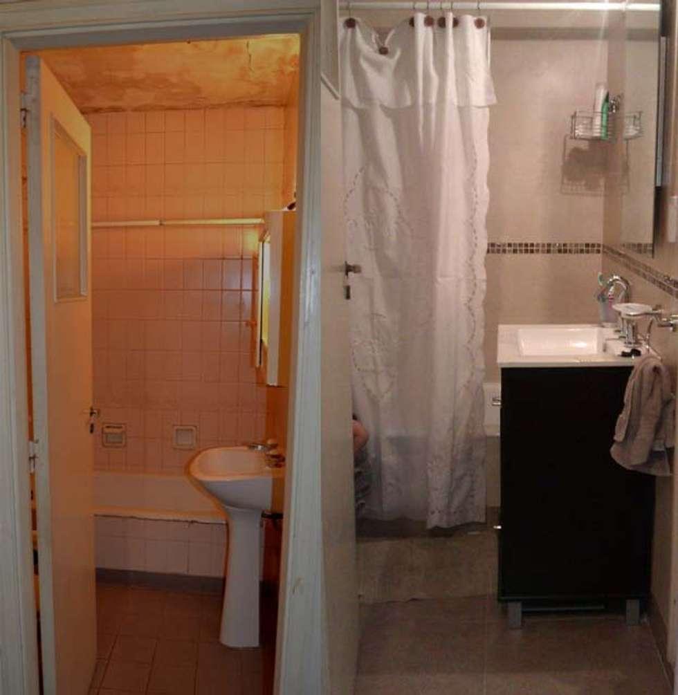 Remodelación de baño en departamento II: Baños de estilo moderno por AyC Arquitectura