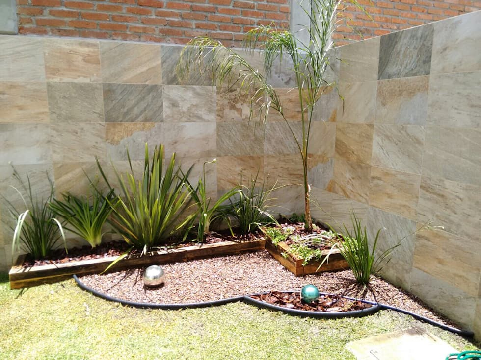 Ideas im genes y decoraci n de hogares homify for Jardines pequenos pegados a la pared