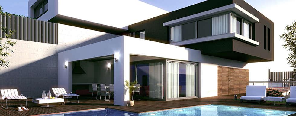 casa habitacion: Casas de estilo minimalista por Oriente Arquitectos