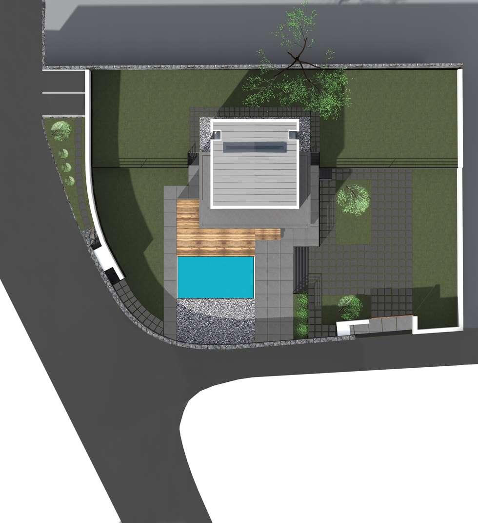 Planimetria: Case in stile in stile Moderno di Gaetano Ternullo