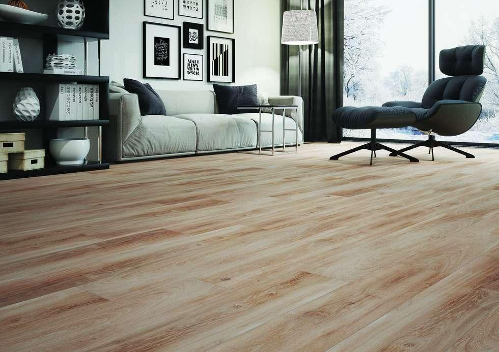 Holzoptikfliesen Im Wohnzimmer: Moderne Wohnzimmer Von Fliesen Sale