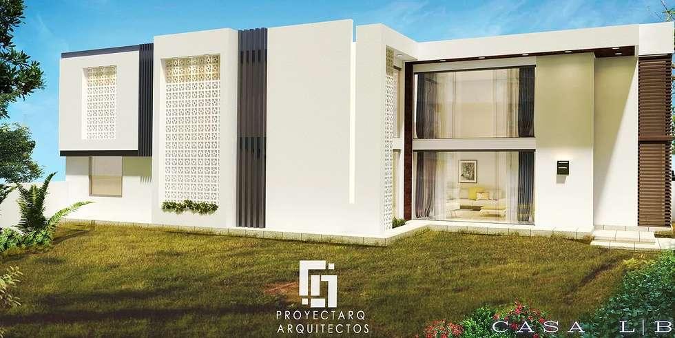 CASA LB: Casas de estilo moderno por PROYECTARQ   ARQUITECTOS