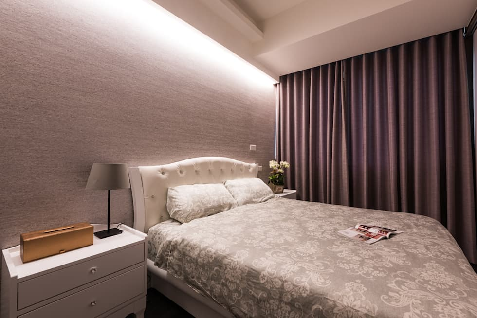 床頭光帶:  臥室 by 你你空間設計