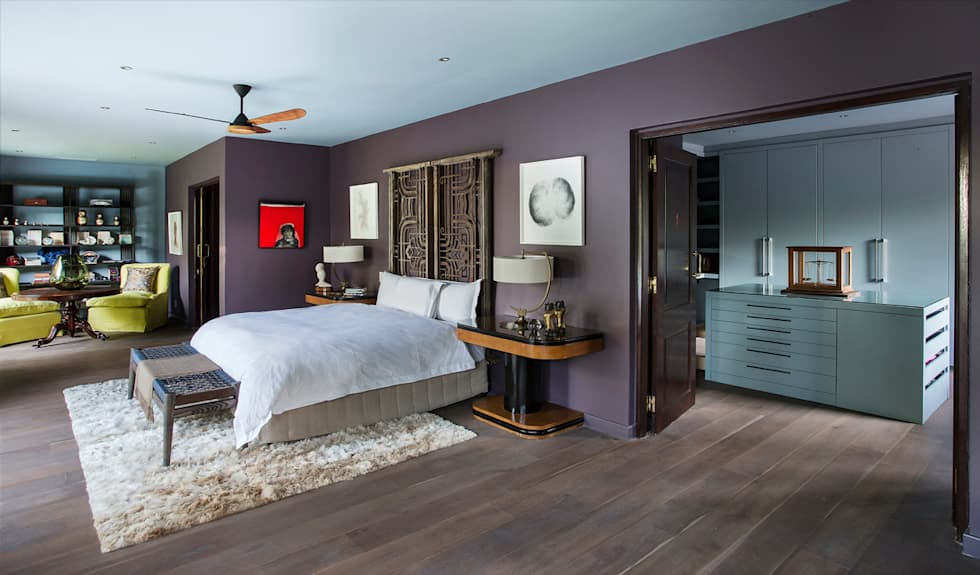 Master Bedroom Suite:  Hotels by W Cubed Interior Design