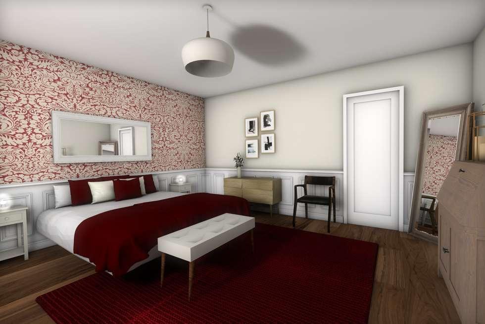 Chambre 1: Chambre de style de style Classique par Dem Design