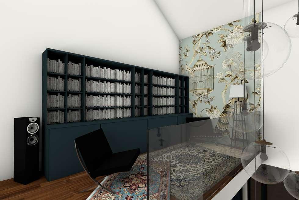 La mezzanine: Couloir et hall d'entrée de style  par Dem Design