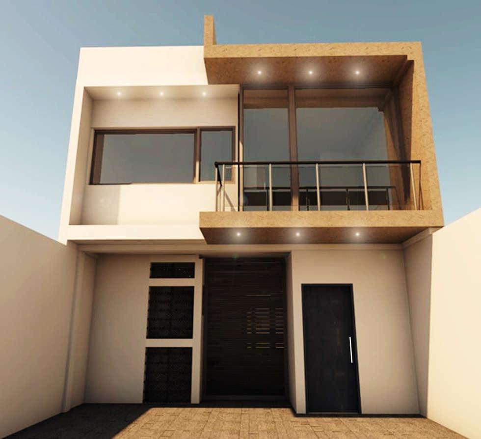 CASA SS001: Casas de estilo minimalista por Spacio.Status/Arquitectura