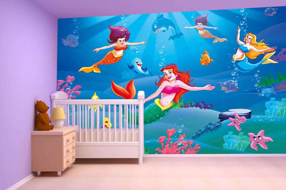 Cartoon Galaxy Fantasy Wallpaper Designs For Kids Room And Home Interiors Walls