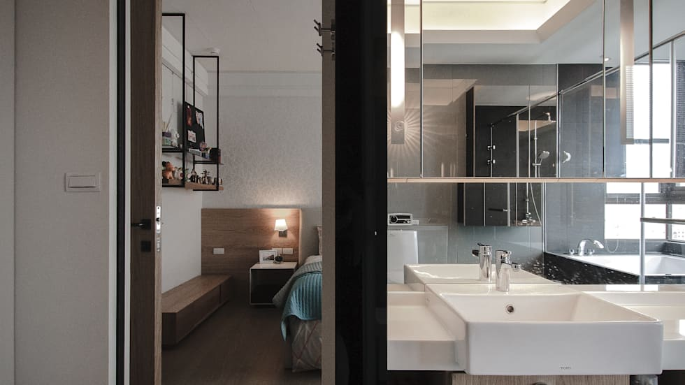 BRAVO INTERIOR DESIGN & DECO    KUAN STYLE:  浴室 by 璞碩室內裝修設計工程有限公司
