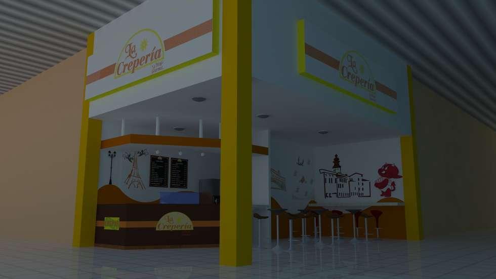 Apunte perspectivo del proyecto: Centros Comerciales de estilo  por M4X