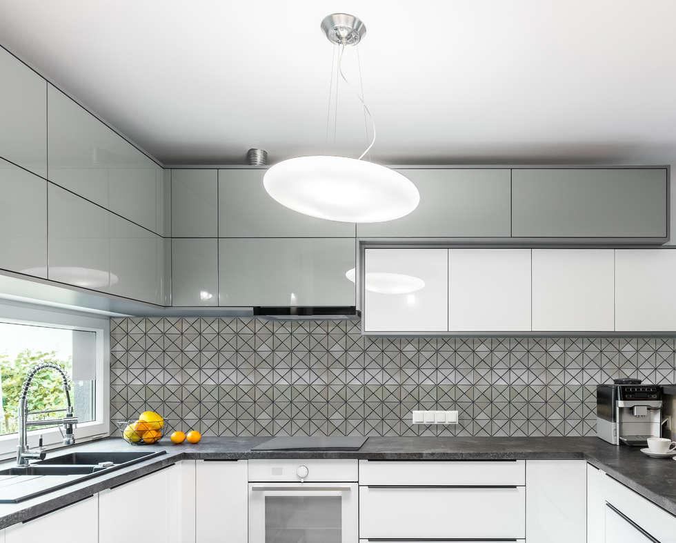 Brushed Nickel Tile, Prisma : modern Kitchen by Elalux Tile