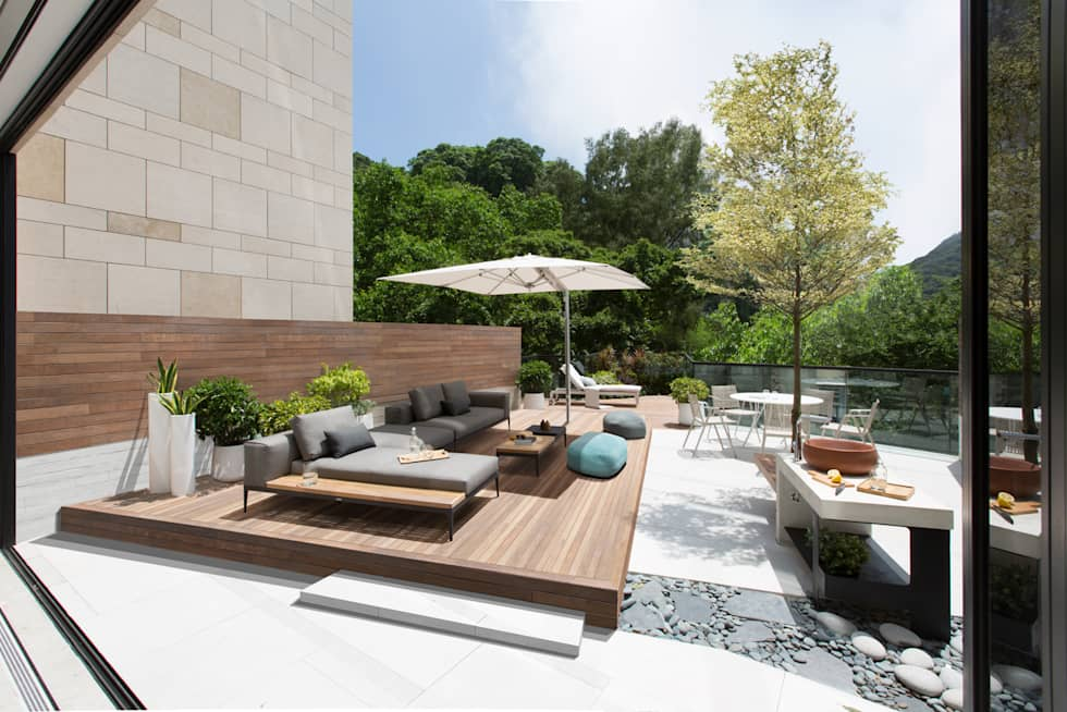 Jump into the Garden: modern Garden by Sensearchitects_Limited