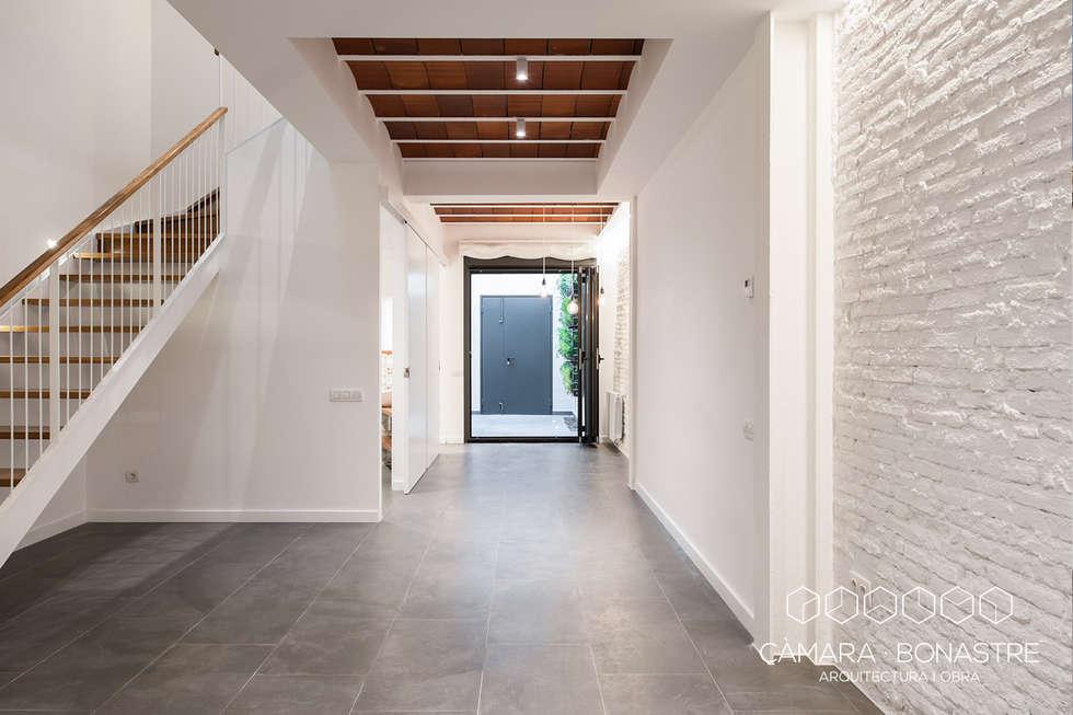 santa anna obra nueva de una vivienda unifamiliar entre medianeras pasillos vestbulos y