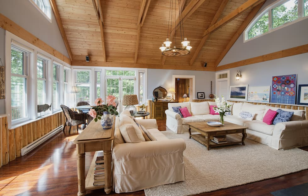 Manning Cottage : country Living room by Unit 7 Architecture