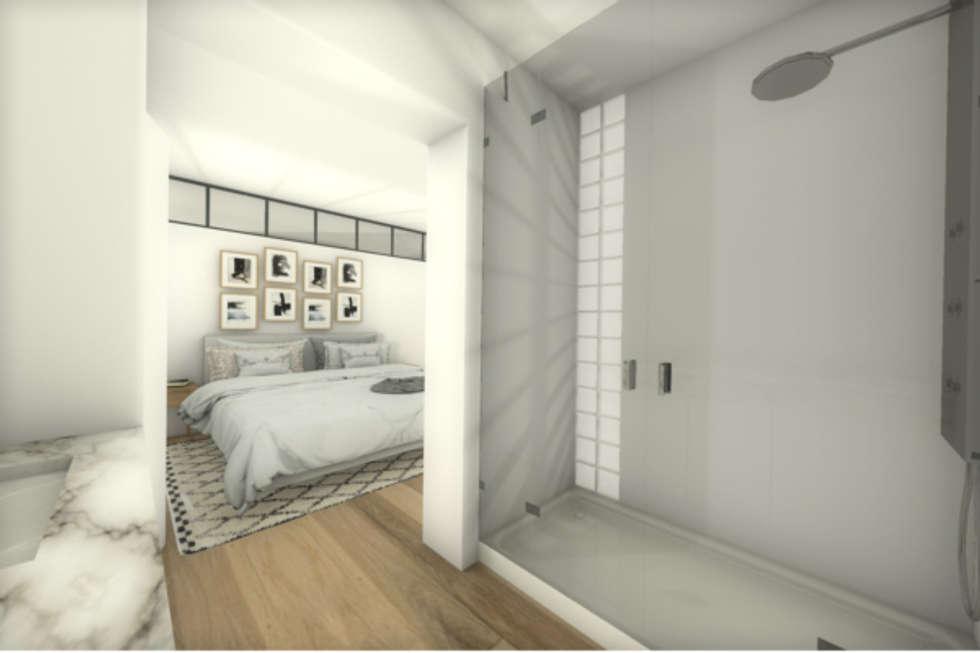 Vue de la chambre parentale: Chambre de style de style Moderne par Dem Design