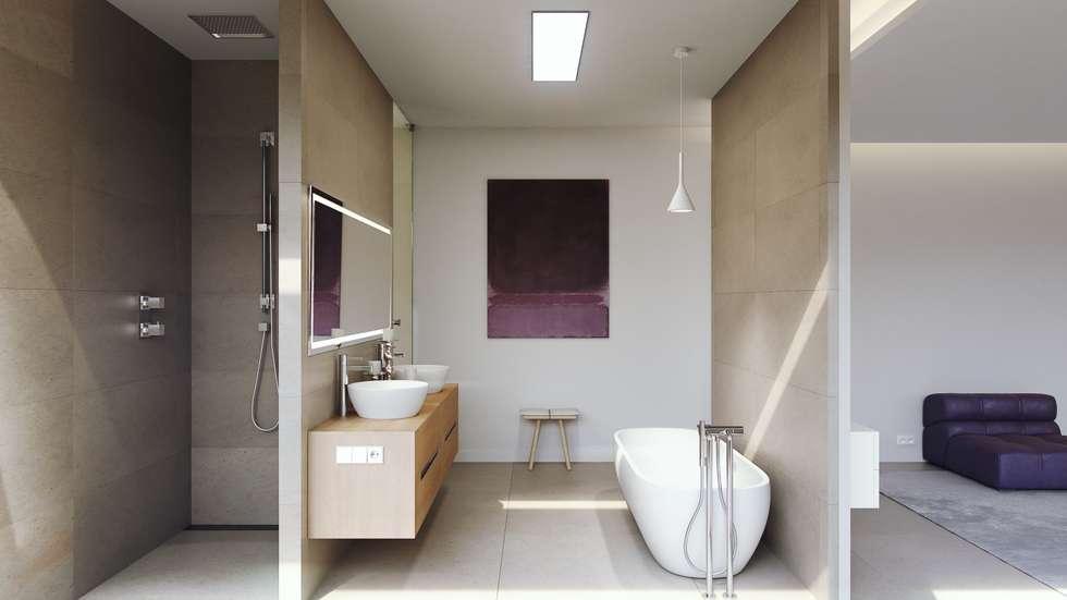 浴室 by GESTEC. Arquitectura & Ingeniería