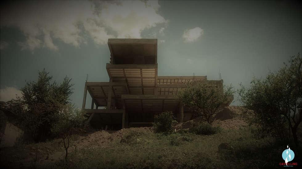 Materialidad: Casas de estilo moderno por CASTELLINO ARQUITECTOS (+)