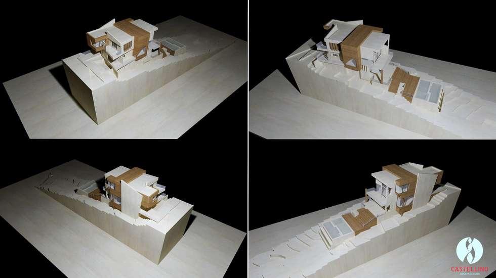 Visualización general de Proyecto - Perspectivas atmosféricas: Casas de estilo moderno por CASTELLINO ARQUITECTOS (+)