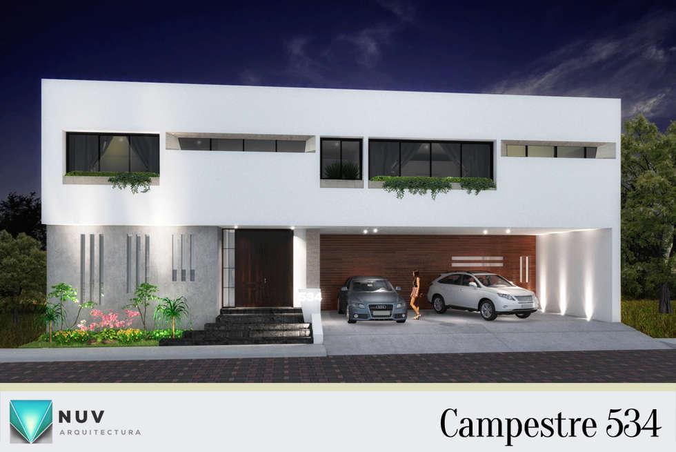 Fachada: Casas unifamiliares de estilo  por NUV Arquitectura