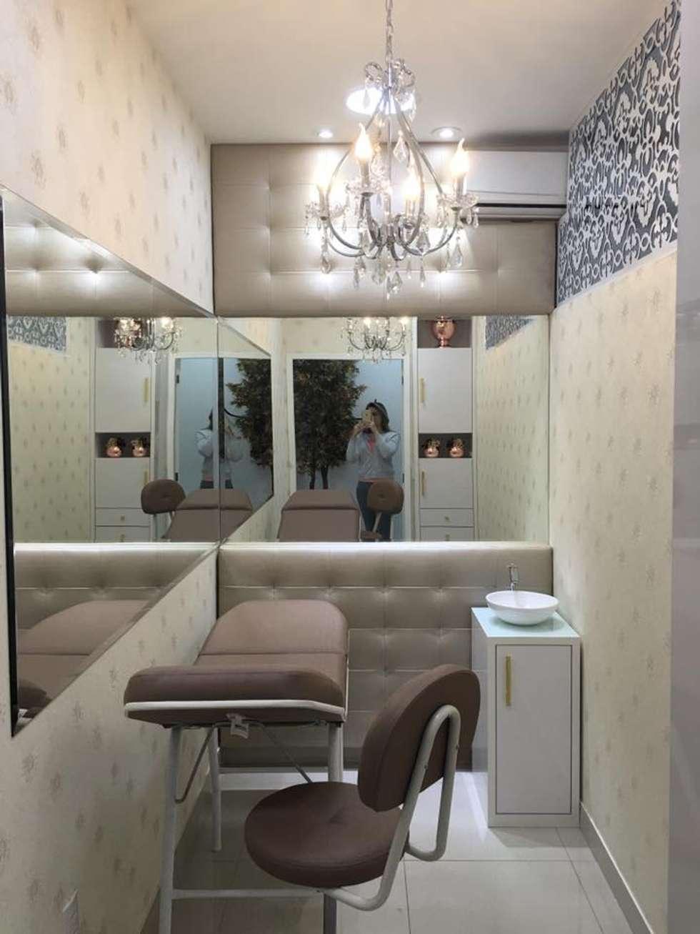 Sala De Est Tica Micropigmenta O Por Rafaela Carina Arquitetura  -> Imagem Para Sala