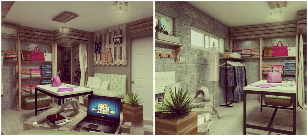 Showroom: Vestidores y placares de estilo moderno por VI Arquitectura y Diseño Interior