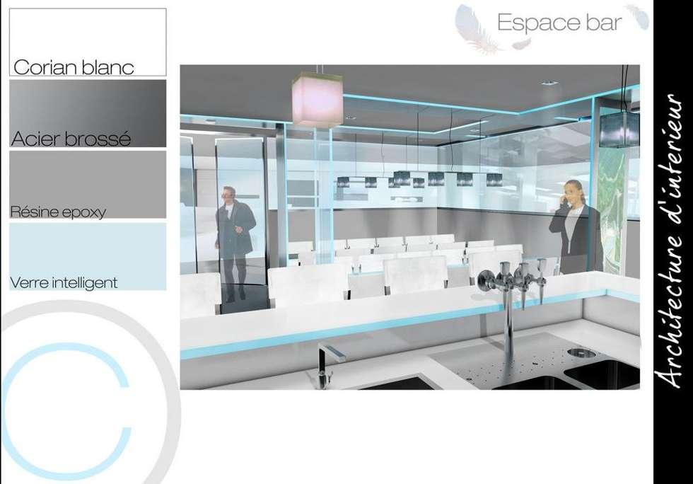 Espace bar: Restaurants de style  par Crhome Design