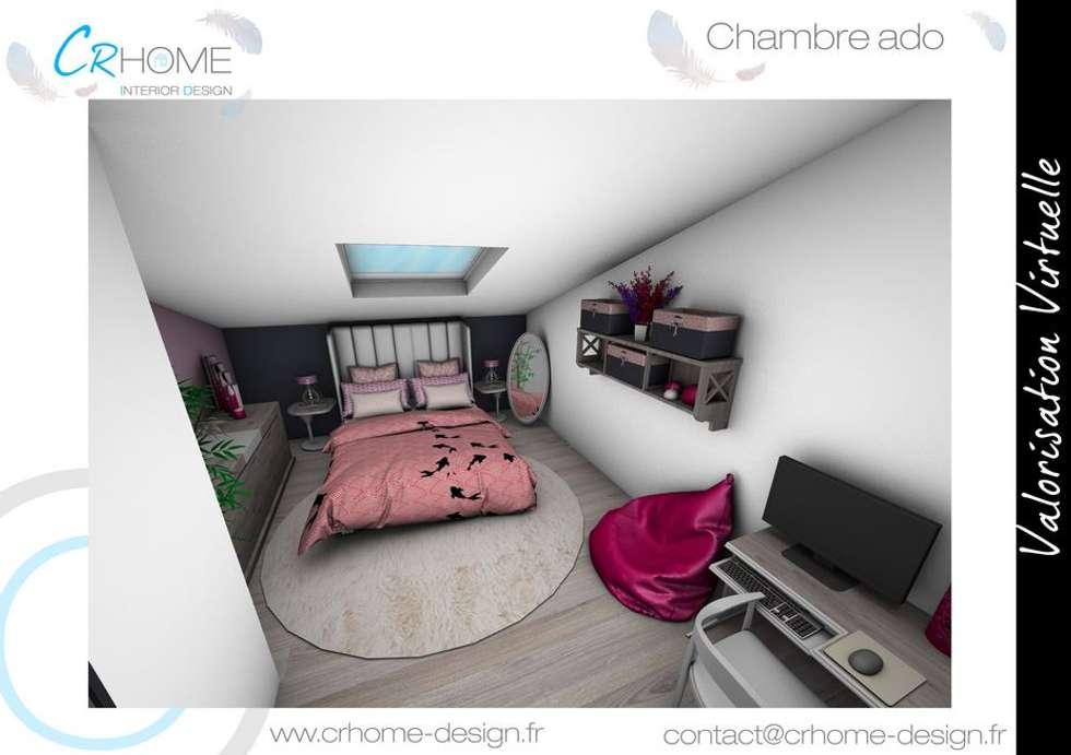 Chambre d'ado: Chambre de style de style Moderne par Crhome Design