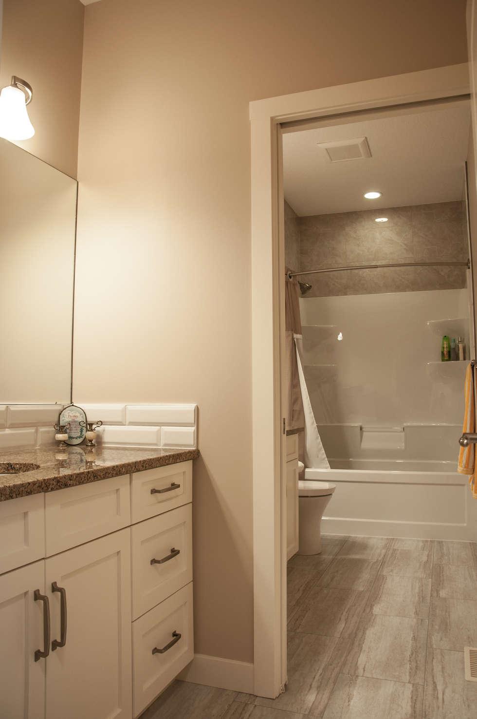 2nd Floor Bathroom: country Bathroom by Drafting Your Design