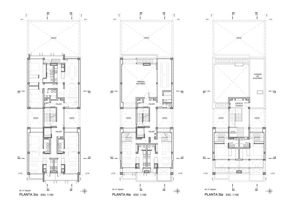 EDIFICIO IRIGOYEN - Autores: Mauricio Morra Arq., Diego Figueroa Arq. y Arte de dos: Casas de estilo moderno por Mauricio Morra Arquitectos