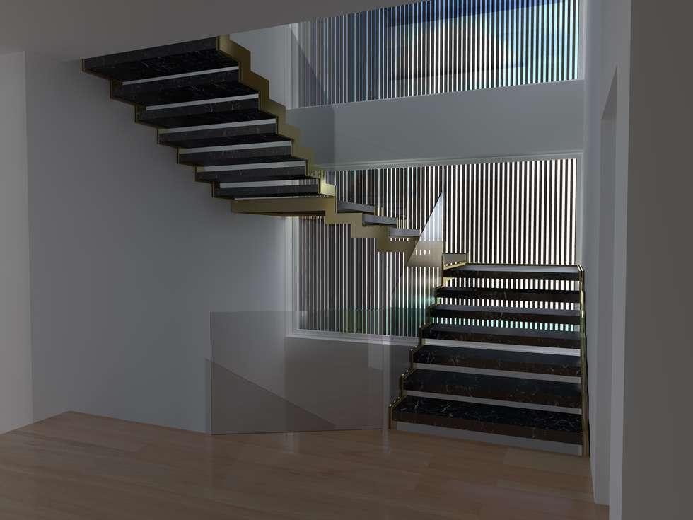 Scala interna: Ingresso & Corridoio in stile  di Siepi Architetti Associati