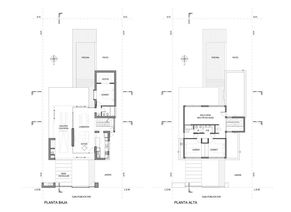 CASA DEL BOSQUE - Autores: Mauricio Morra Arq., Diego Figueroa Arq.: Casas de estilo moderno por Mauricio Morra Arquitectos