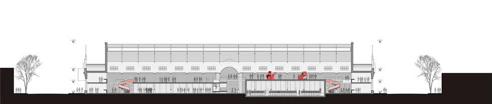 CONCURSO EX MERCADO MUNICIPAL DE RAFAELA (segundo premio) - Autores: Arq. Mauricio Morra y Arq. Diego Figueroa : Centros de exposiciones de estilo  por Mauricio Morra Arquitectos