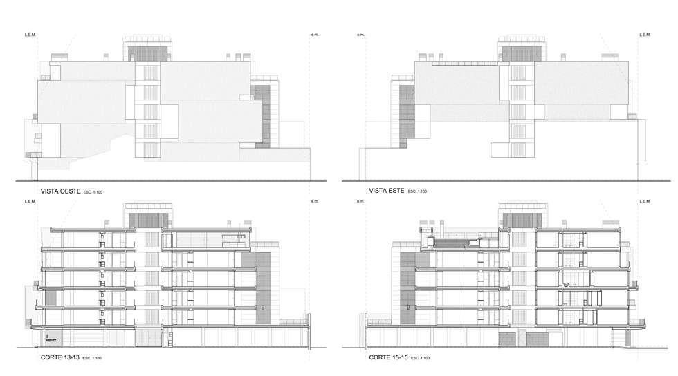 EDIFICIO BELGRANO CENTRO - Autores: Mauricio Morra Arq., Diego Figueroa Arq. y Arte de Dos: Casas de estilo moderno por Mauricio Morra Arquitectos