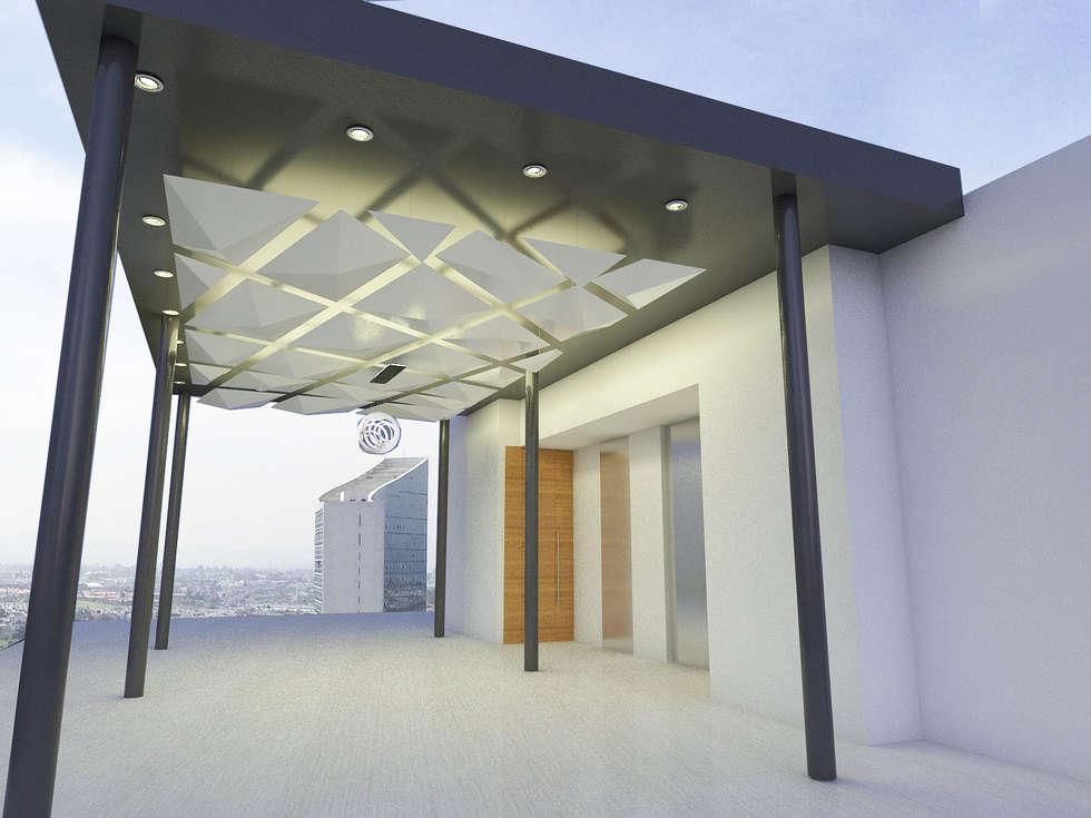 PROPUESTA SECUNDARIA: Terrazas de estilo  por Element+1 taller de arquitectura
