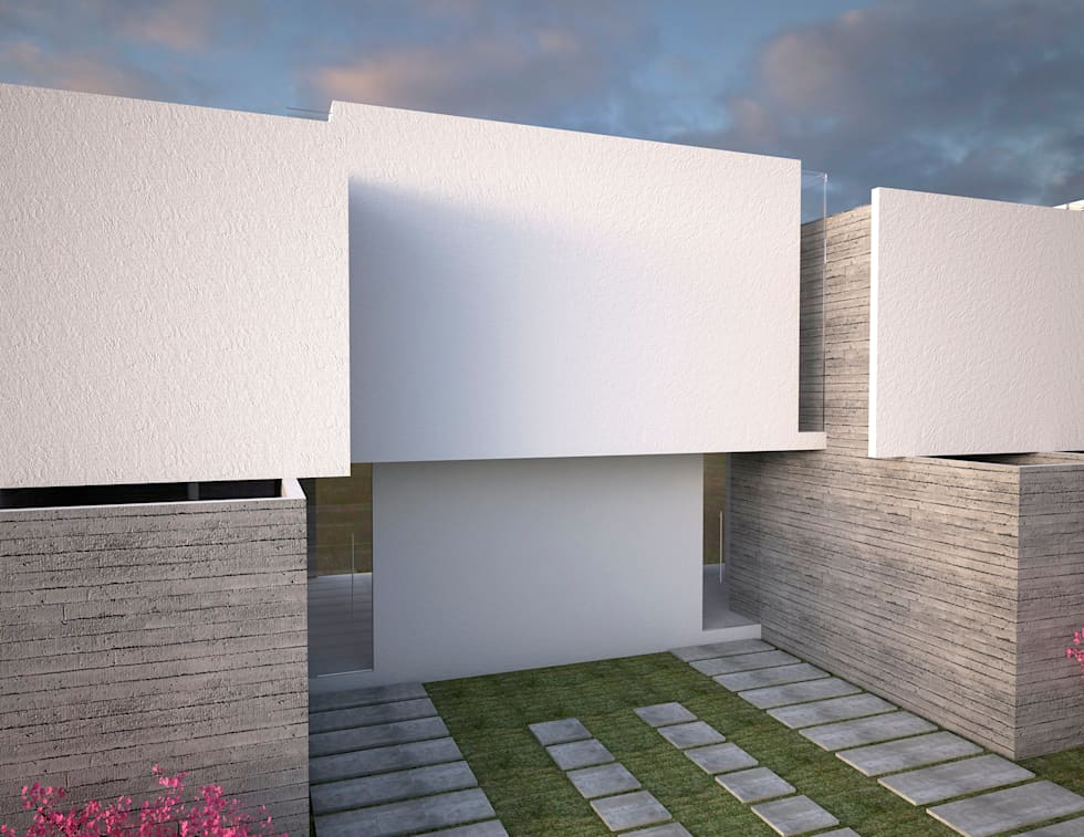 vivienda de interés social : Casas de estilo minimalista por Element+1 taller de arquitectura