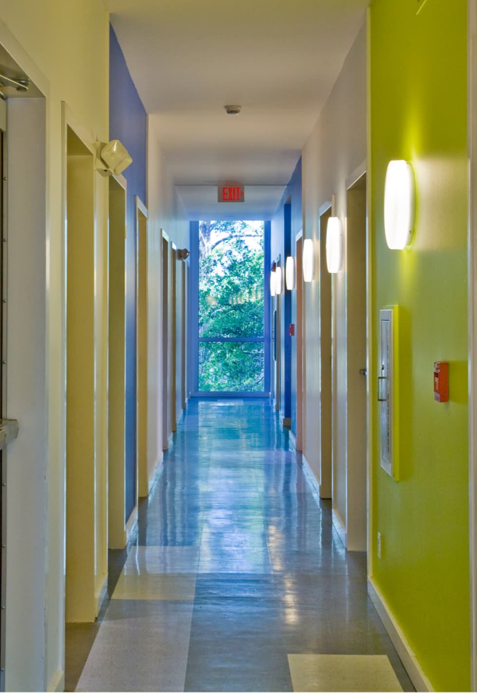 Zeta Beta Tau  Fraternity House Reconstruction:  Corridor & hallway by studioWTA