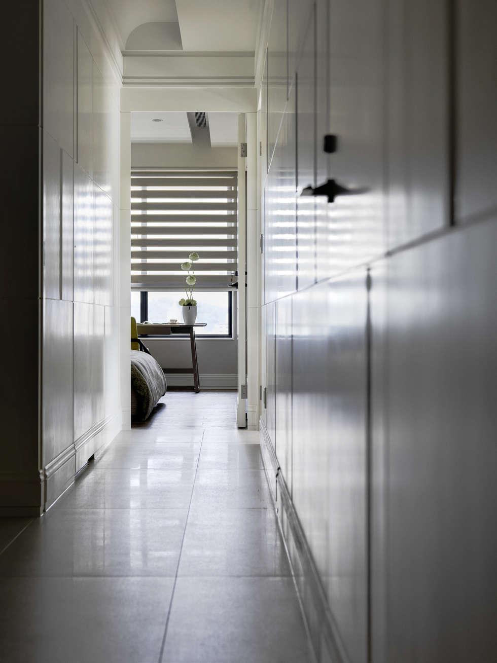 浪漫的歸屬:  走廊 & 玄關 by 大荷室內裝修設計工程有限公司