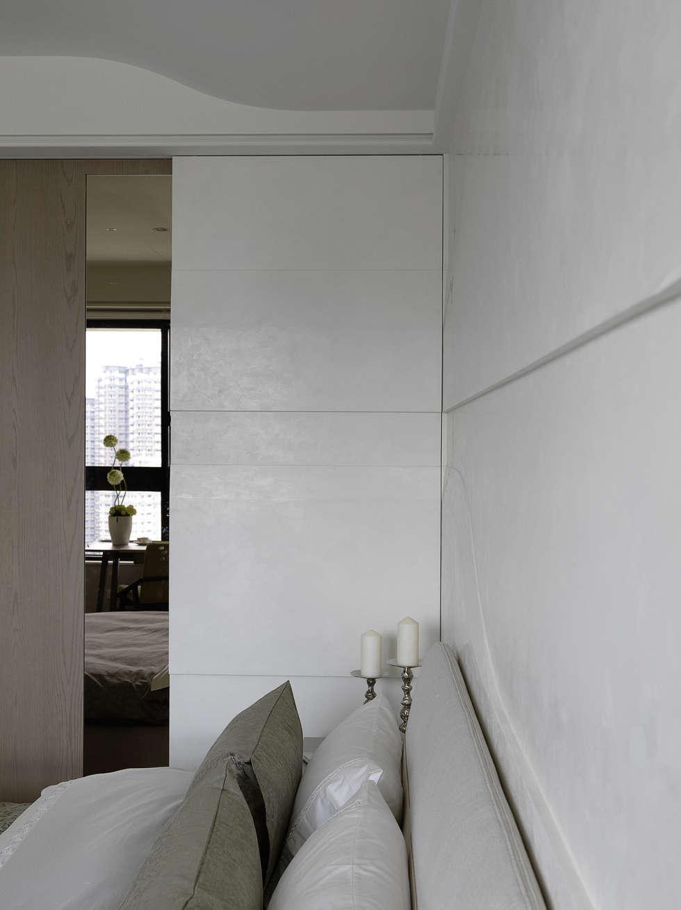 浪漫的歸屬:  臥室 by 大荷室內裝修設計工程有限公司